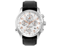 Bulova Precisionist Chronograph White Dial Black Strap Mens Watch 96B182