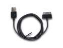 Black Data Sync Transfer Charger Cable for Samsung Galaxy Tab P6200 P6210 P1000