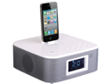 New Power Acoustik Hp210iw White Am Fm Clock Radio Ipod/Iphone Docking & Remote