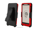 CB31 Hard Cover Case Combo Clip Holster for Motorola Droid RAZR M XT907 (Verizon Wireless) - Red