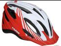 Lazer Vandal Helmet with Visor: White/ Red~ Unisize
