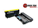 Laser Tek Services ® Compatible Cartridge for Brother TN650 & Compatible DR620 - 2 Pack total