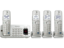 Panasonic KX-TGE274S DECT 6.0 Expandable Digital Cordless Answering System with 4 handsets