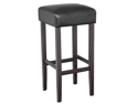 Piper Contemporary Wood/Faux Leather Barstool - Black