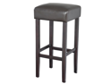 Piper Contemporary Wood/Faux Leather Barstool - Brown