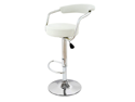 Zool Contemporary Adjustable Faux Leather Barstool - Vanille White