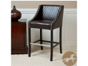 Christopher Knight Home Milano Brown Quilted Leather Bar Stool