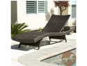 Christopher Knight Home Outdoor Brown Wicker Adjustable Chaise Lounge