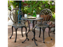 Christopher Knight Home Thomas Cast Aluminum 3-Piece Bistro Set - Dark Gold