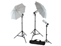 LoadStone Studio Continuous Lighting Kit Umbrella with Daylight Balanced 6500K Bulbs
