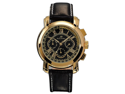 KS Men's Automatic Mechanical 6-Hand 24-Hour Leather Watch