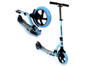EXOOTER M1550BB 6XL Adult Kick Scooter With Front Shocks and 180mm/240mm Wheels - Vibrant Blue