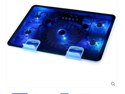 5 Fans 2USB Notebook Laptop Computer Cooler,Cooling Rack,Fan Base Plate, Strengthen Edition black  for 14,15.6 ,17 inches - Blue