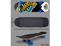Shark Wheel Complete Skateboard (Shiver Skateboard, 60mm Blue Wheels)