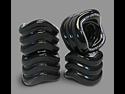Shark Wheel Square Skateboard/Longboard Wheels (Black 70mm, 80a)