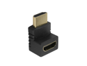 HDMI M / F Adapter Male to Female 90° Gold plated head HDMI Adapter M/F -- 90 Degree -- Gold Plated - Ideal for Tight Locations