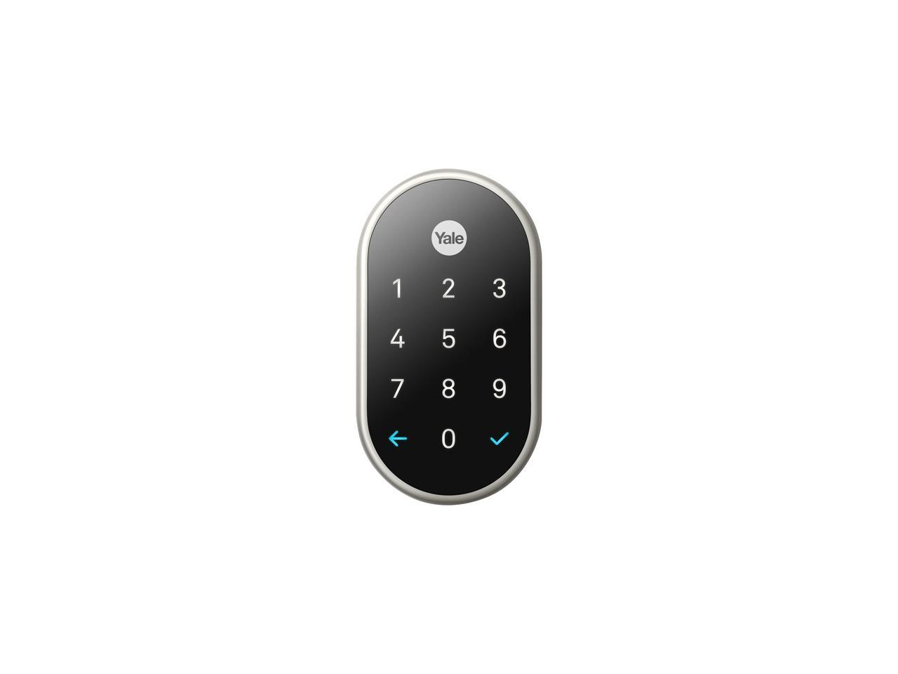 Details about Nest x Yale Wi-Fi Smart Lock with Nest Connect - Satin Nickel
