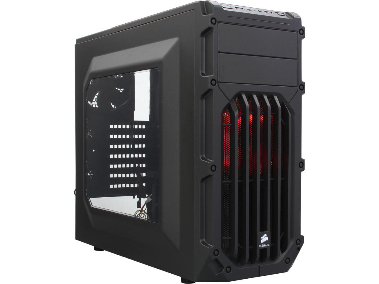 Corsair Carbide Series SPEC-03 Black Steel ATX Mid Tower Gaming Case (Red)