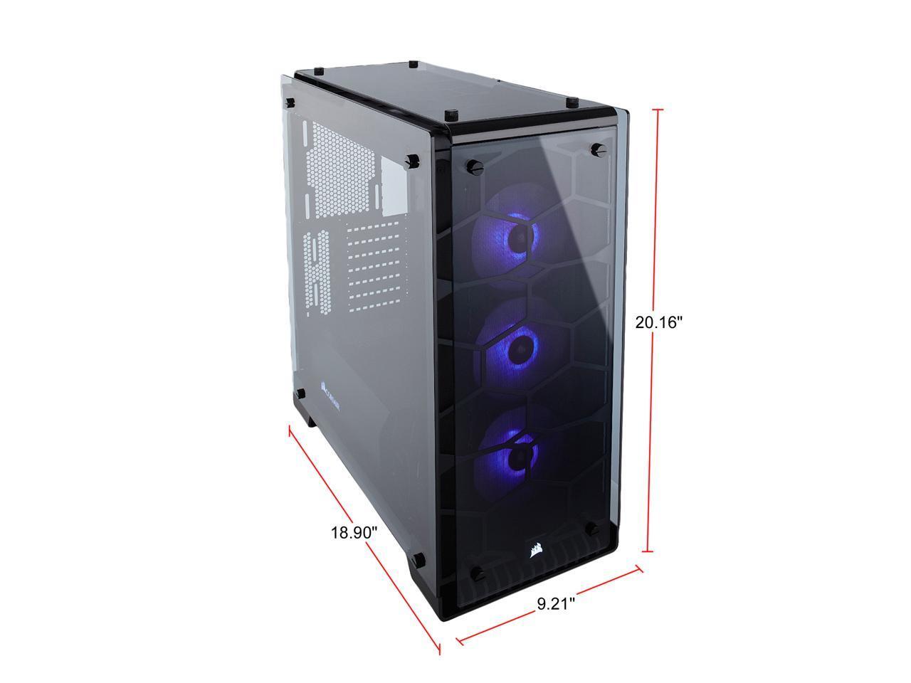 Corsair Crystal Series 570X RGB CC-9011098-WW Steel Tempered Glass ATX Mid Tow