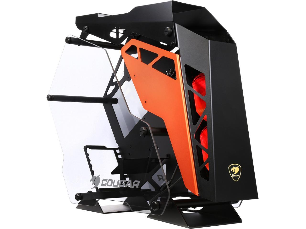 Details about COUGAR Conquer Alloy ATX Mid Tower Aluminum Frame Tempered  Glass Gaming Case