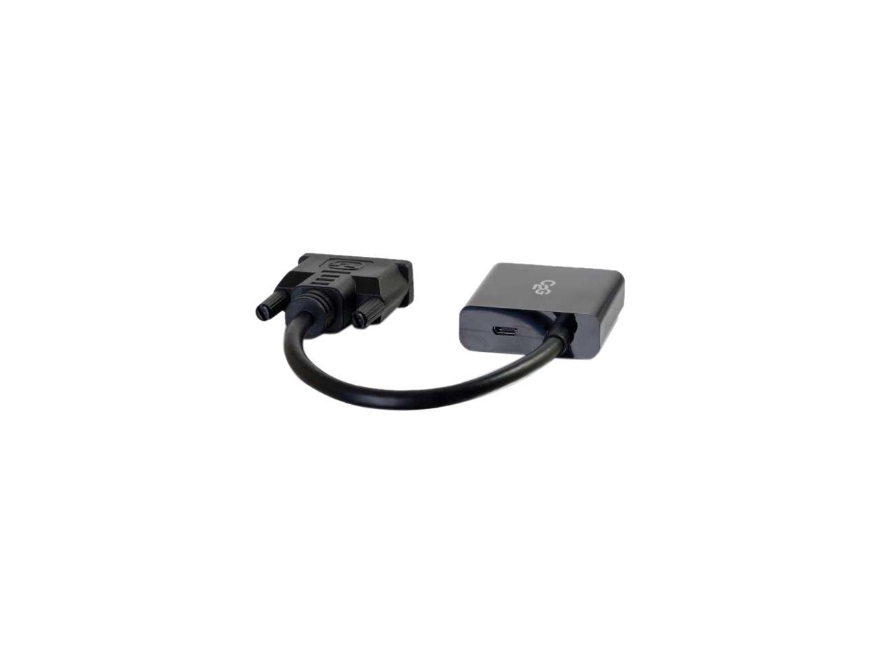 C2G 41380 DVI to VGA Adapter Converter Black