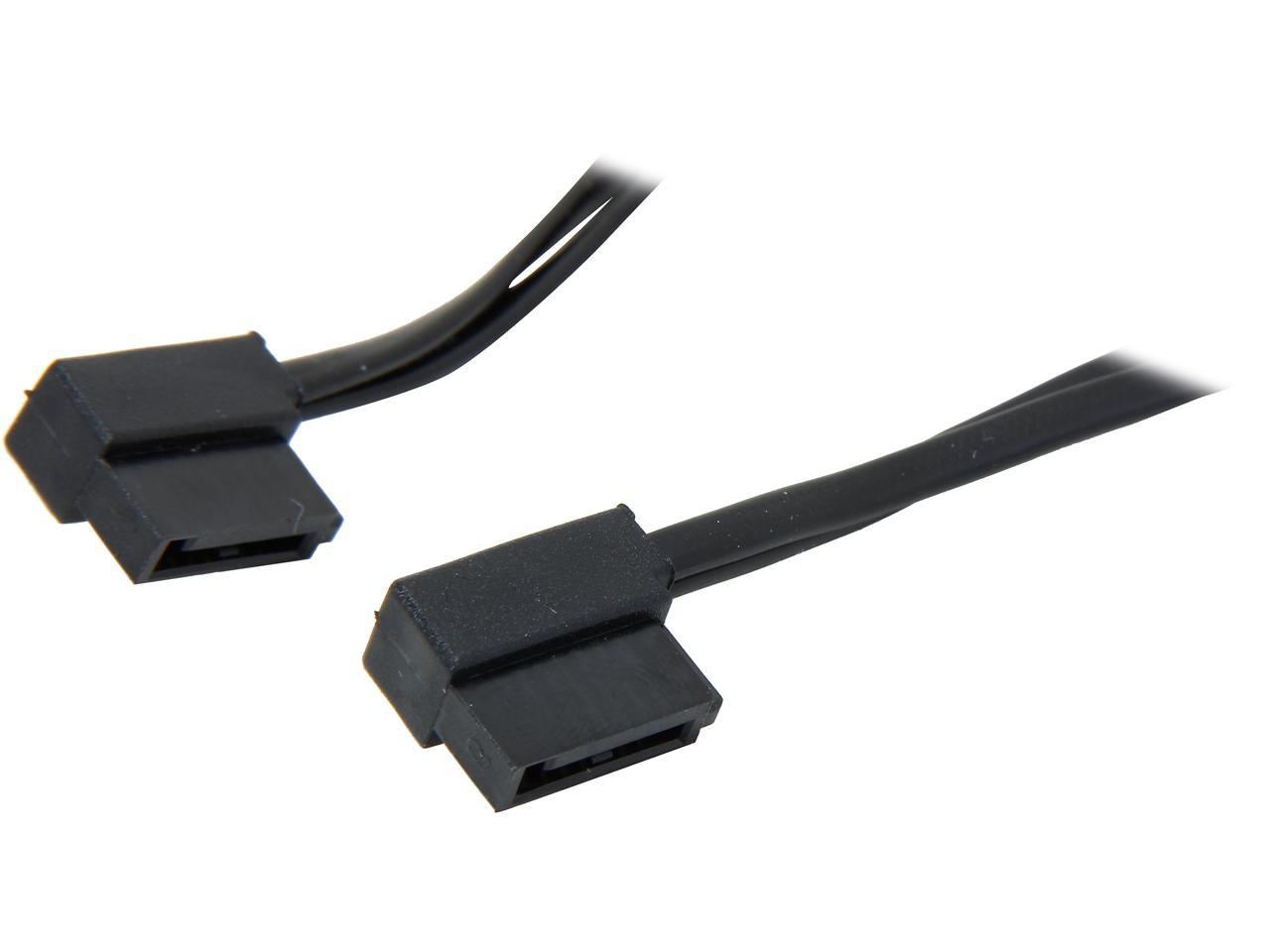 Silverstone Tek CP11B-500 500mm Ultra Thin 6Gb//s Lateral 90-Degree SATA Cables