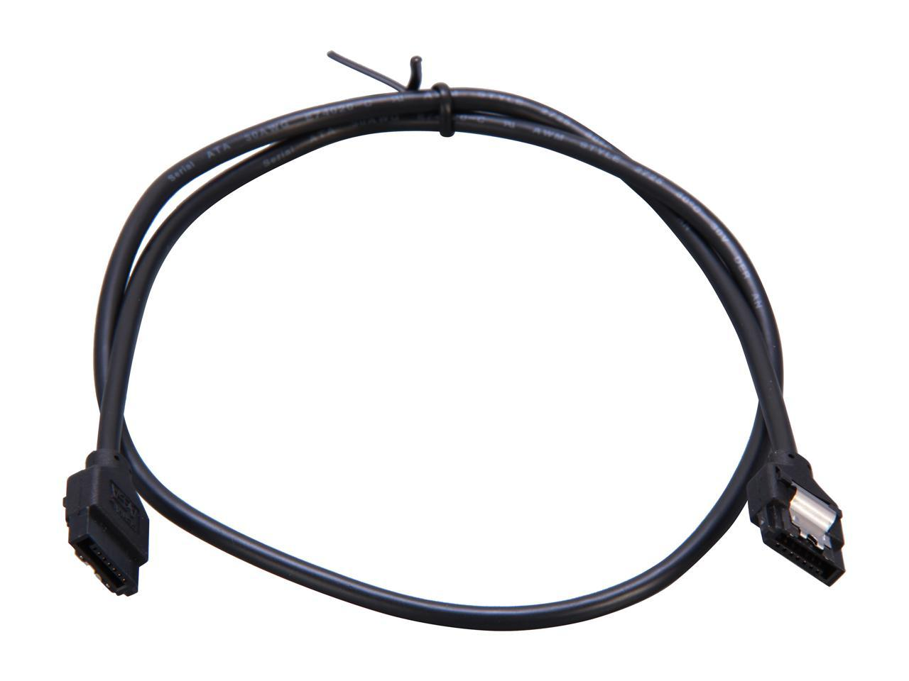 "StarTech LSATARND24 24/"" Latching Round SATA Cable 2-ft"