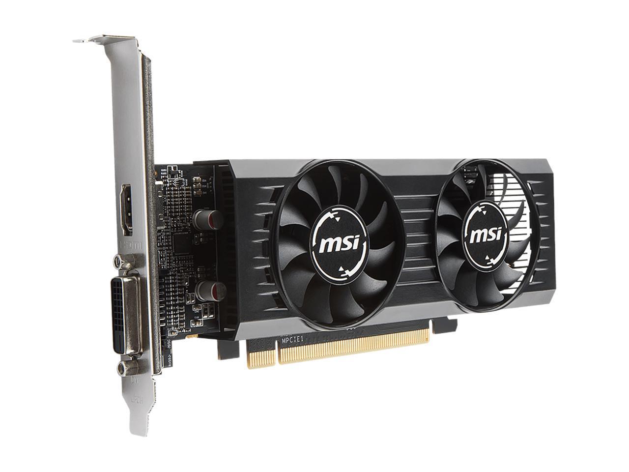 MSI Radeon RX 550 DirectX 12 RX 550 4GT LP OC 4GB 128-Bit ...