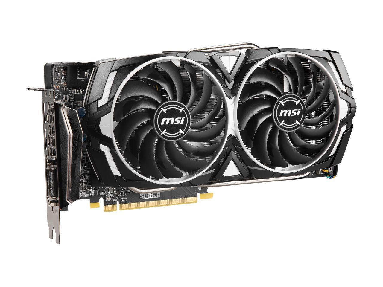 MSI Radeon RX 580 DirectX 12 RX 580 ARMOR 4G OC 4GB 256-Bit GDDR5 PCI Express x1