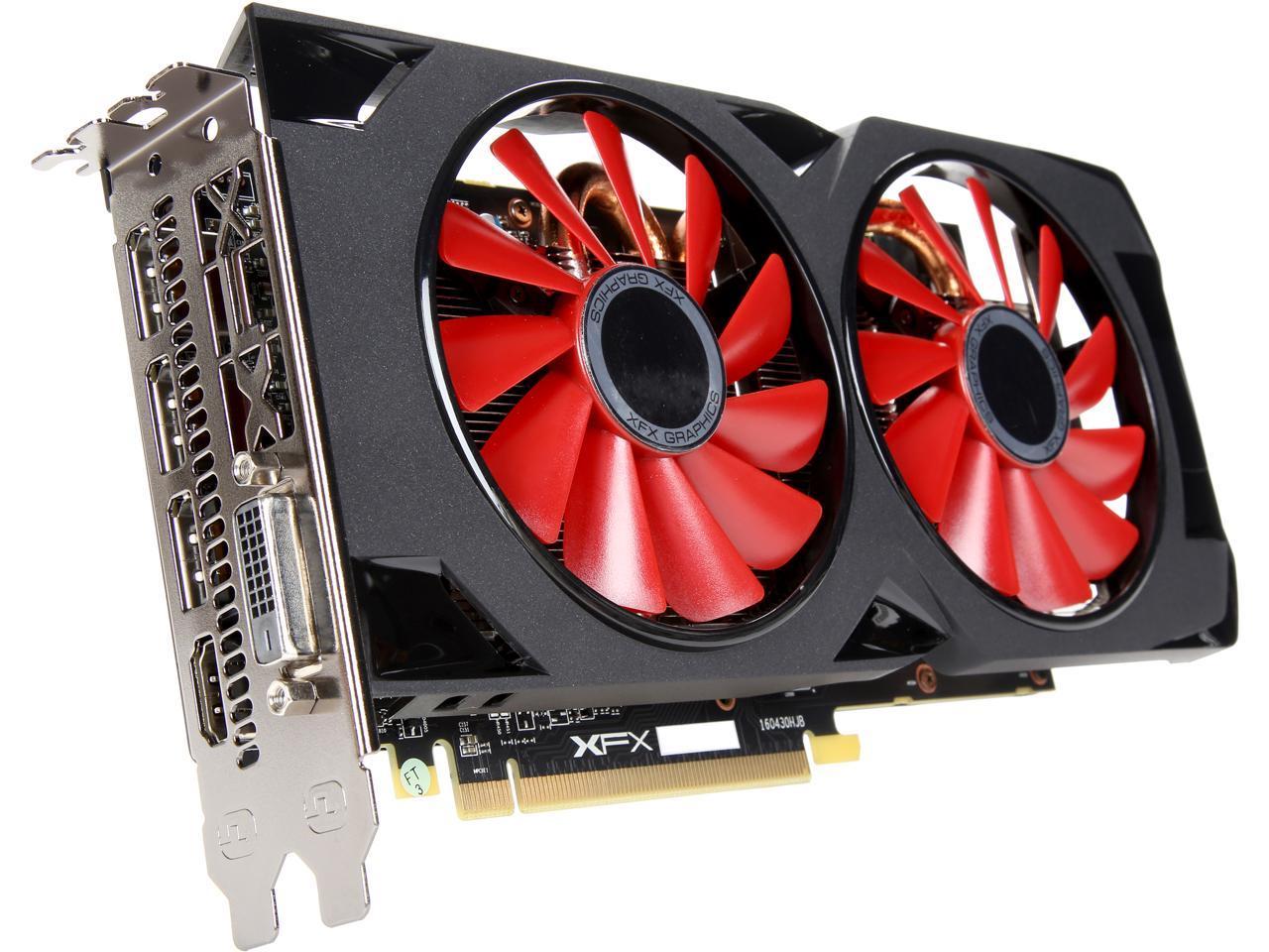 XFX Radeon RX 570 DirectX 12 RX-570P8DFD6 8GB 256-Bit DDR5 ...