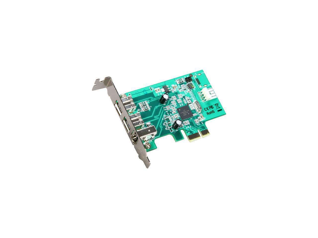 StarTech Low Profile 3 Port PCI//PCI-X FireWire400 1394a Adapter Card PCI1394/_2LP