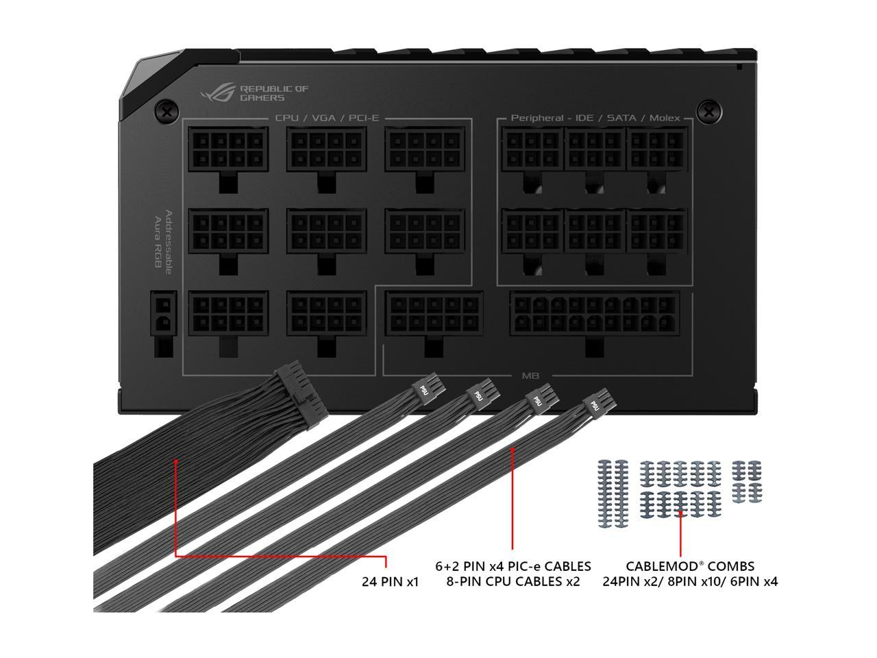 ASUS ROG Thor 1200 80 Platinum 1200W Fully Modular RGB Power Supply with LIVEDA