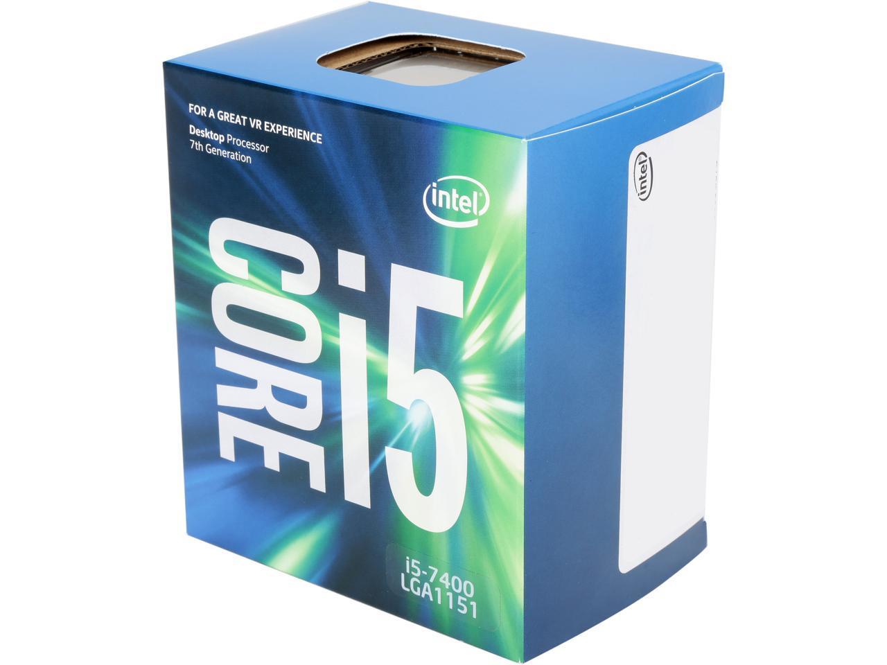 Intel Core i5-7400 Kaby Lake Quad-Core 3.0 GHz LGA 1151 65W ...