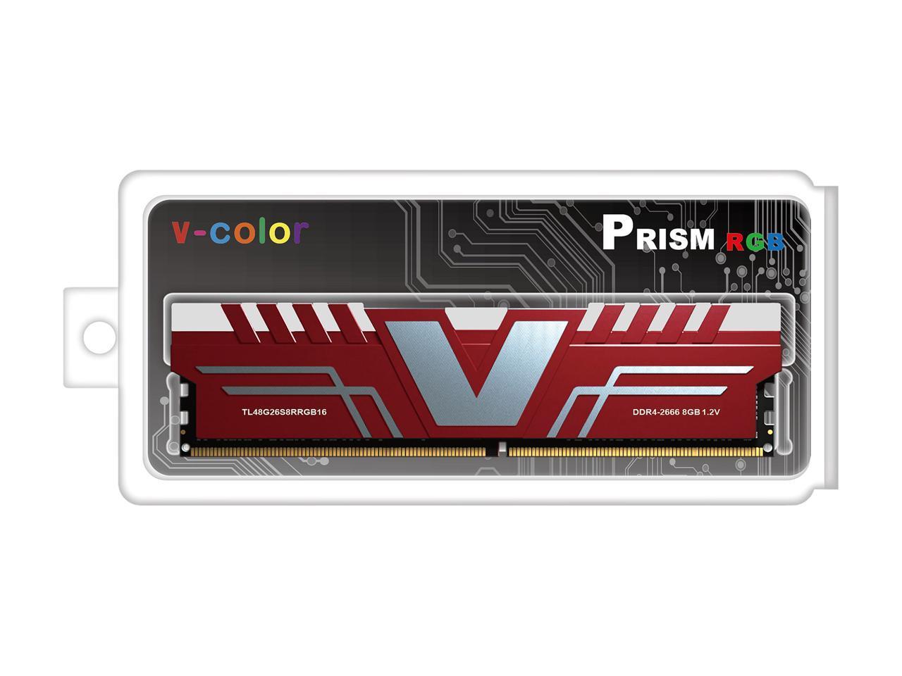 Details about V-Color SKYWALKER PRISM RGB 8GB 288-Pin DDR4 SDRAM DDR4 2666  (PC4 21300) Desktop