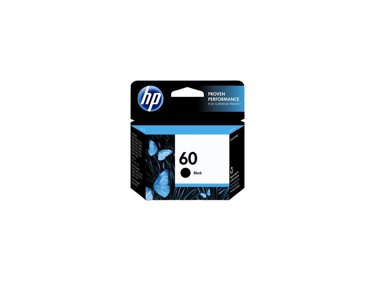 GENUINE NEW HP 60 Black Color Ink Cartridge 2-Pack CC640WN//CC643WN