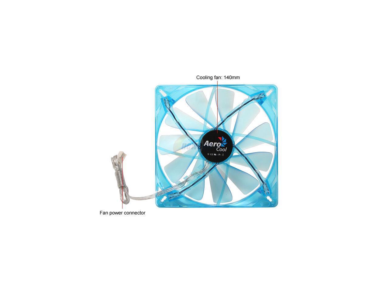 AeroCool Streamliner-Blue 140mm Case Fan