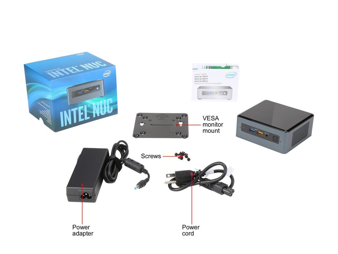 Details about Intel NUC (Next Unit of Computing) BOXNUC8i5BEH1 Black Mini /  Booksize Barebone