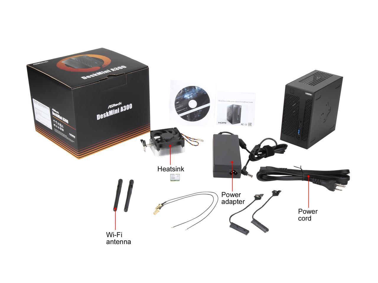 Details about ASRock DESKMINI A300W AMD Socket AM4 AMD A300 1 x HDMI  Barebone System