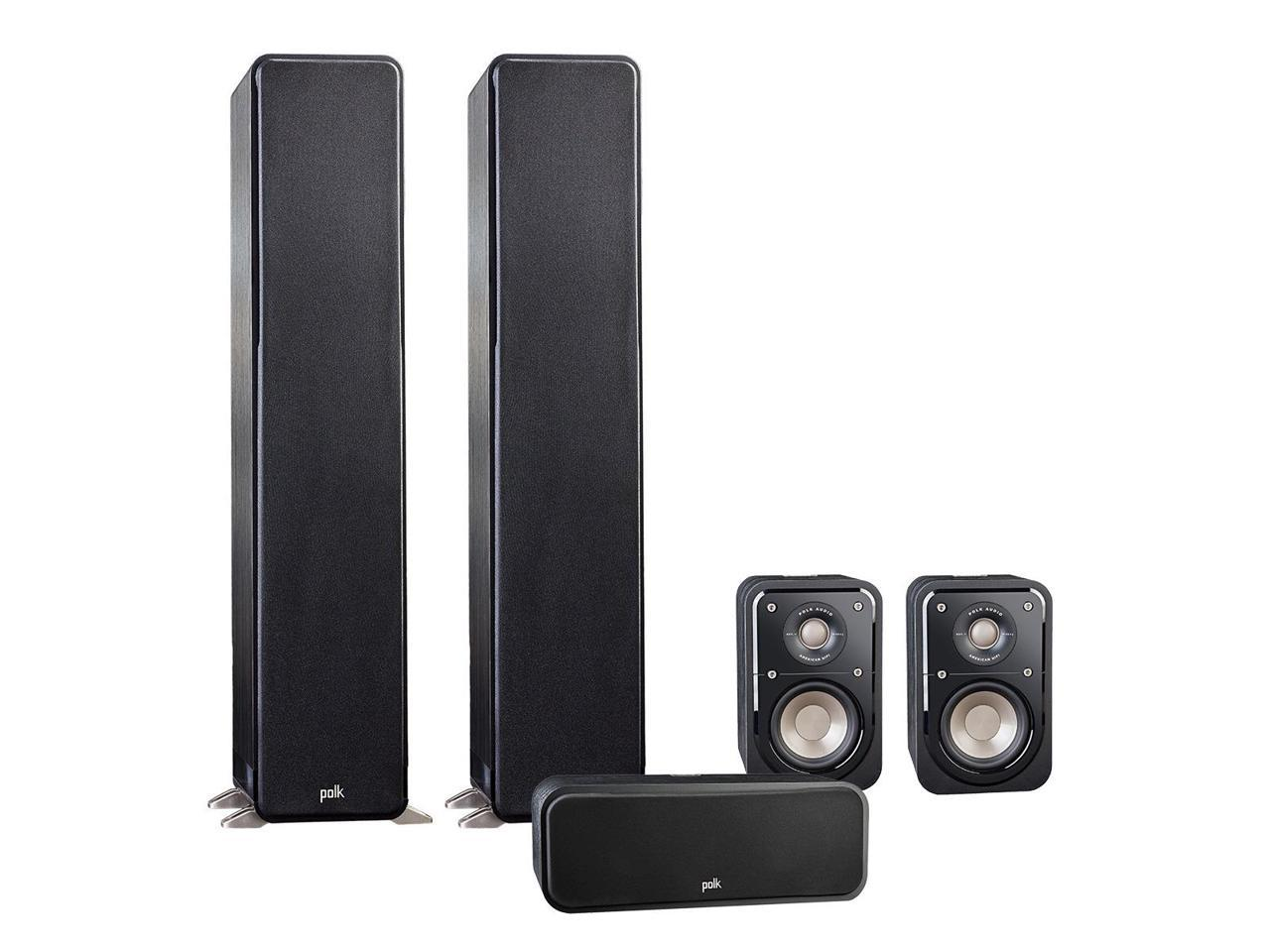 Polk Audio 5.0 Signature Series S50 Home Theater Package with S10 Compact Satellite Surround Speakers and S30 Center Speaker (Black)
