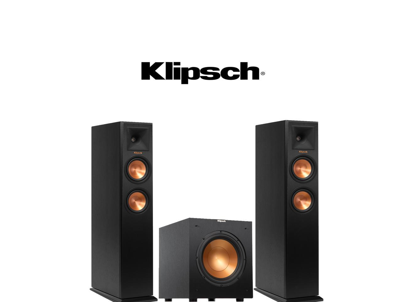Klipsch RP-250F Reference Premiere Floorstanding Speakers with R-10SW 10-Inch 300W Powered Subwoofer - Bundle