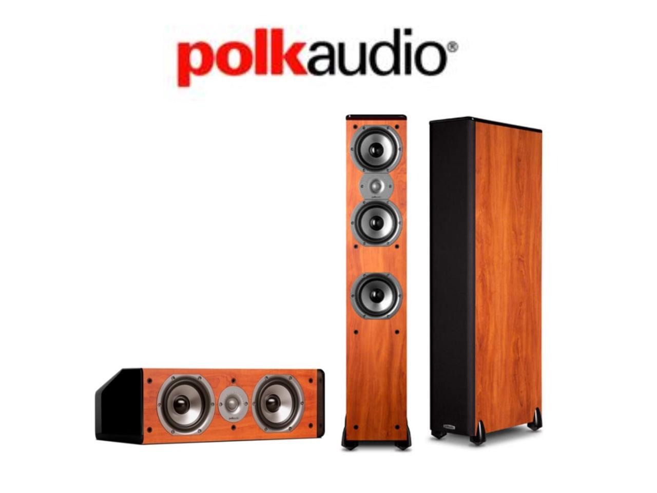 Polk Bundle with (2) TSi400 Floorstanders and (1) CS10 Center Channel in Cherry