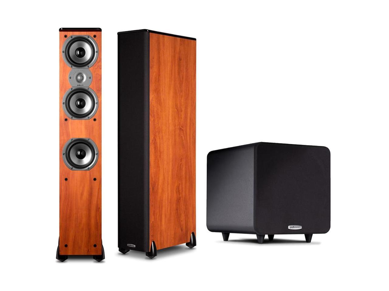 Polk Audio 2.1 Bundle w/ (2) TSi400 Floorstanders in Cherry and a PSW 111 Subwoofer