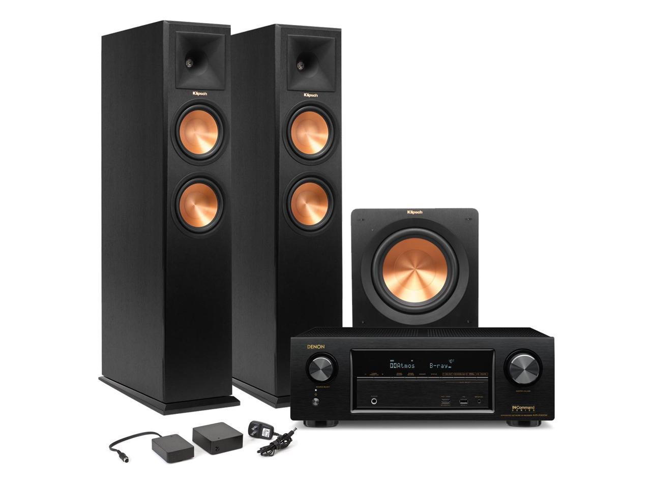 Denon AVR-X1300W 7.2 Channel Full 4K Ultra HD Network A/V Receiver and Klipsch RP-260F 2.1 Speaker Package (Ebony)