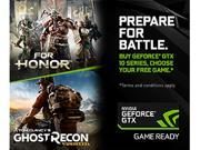 Buy select GeForce GTX 10-series graphic cards, desktop PCs, or laptops and get your choice of For Honor or Ghost Recon: Wildlands.