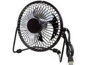 Premiertek USB-FAN Metal Desktop Fan USB Powered with Switch - Black