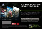 NVIDIA Pick 1 of 3 GAMES: Assassin's Creed Unity, Far Cry 4 and The Crew (Up to $59.99 Retail Value)