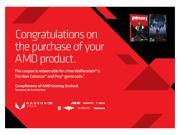 AMD Gift with Purchase- Wolfenstein II: The New Colossus and PREY
