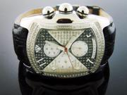 NEW AQUA MASTER BUBBLE LOOP 1.25CT DIAMOND WATCH SILVER & BLACK FACE