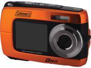 Coleman 2v8wp-O 18.0-Megapixel Duo 2v8wp Dual-Screen Waterproof Hd Digital Camera (orange)  7.20in. x 6.30in. x 2.70in.