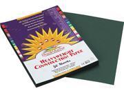 SunWorks 7803 Construction Paper- 58 lbs.- 9 x 12- Dark Green- 50 Sheets/Pack